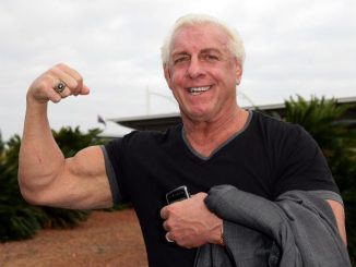 SYDNEY, AUSTRALIA - NOVEMBER 17:  Wrestler Ric Flair arrives at Sydney Airport on November 17, 2009 in Sydney, Australia.  (Photo by Don Arnold/WireImage)